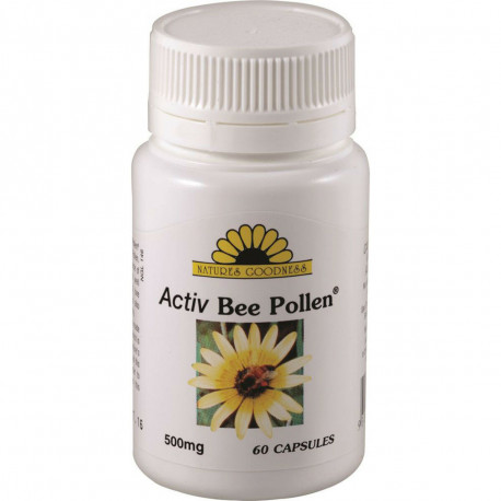 Nature's Goodness Activ Bee Pollen 500mg 60 Capsules