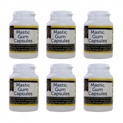 Mastic Gum 6 Bottles of 30 Vegan capsules - Made in Australia