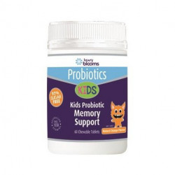 Henry Blooms Kids Probiotic Memory Support Orange Flavour 60 Chew able Tablets