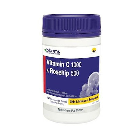 Henry Blooms Vitamin C 1000 & Rosehip 500mg 180 Tablets