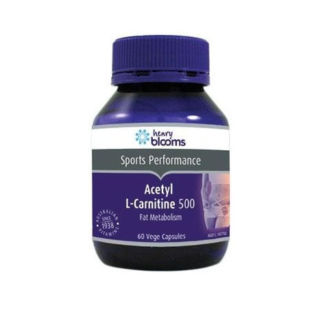 Henry Blooms Acetyl L-Carnitine 500 mg 180 Capsules
