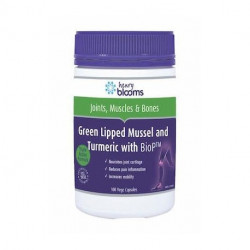 Henry Blooms Green Lipped Mussel and Turmeric with BioP™ 100 Capsules
