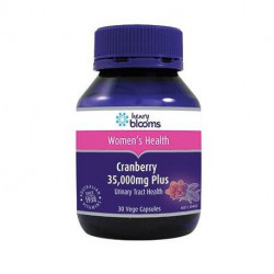 Henry Blooms Cranberry 35,000 mg Plus Vitamin C & Silica 30 Capsules