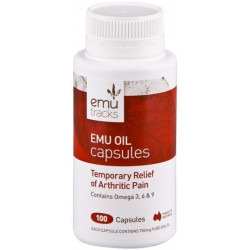 Emu Tracks Emu Oil 750 mg 100 Capsules