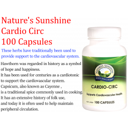 Nature's Sunshine Cardio Circ 460mg 100 Caps